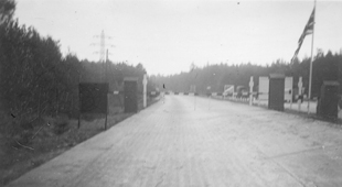 East-West German border, 1945