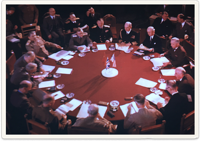 Talks around the table at Potsdam Conference